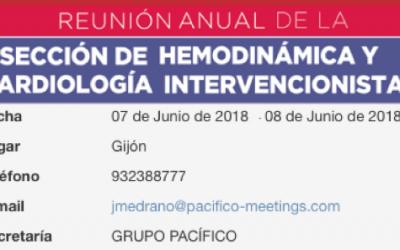 XIX Reunión Anual de la Sección de Hemodinámica y Cardiología Intervencionista